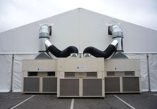 MOÑITA carpa con equipo de calefacción