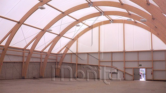 Cubiertas de lona hinchables polideportivo en Elorrio