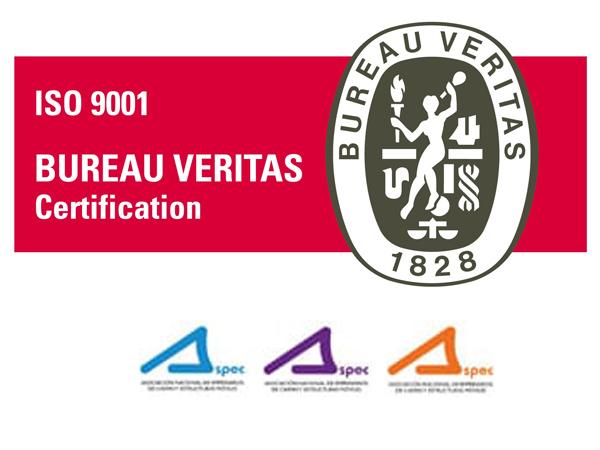 toldos moñita certificación ISO
